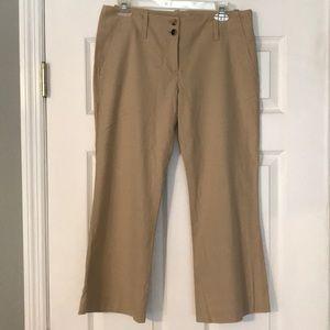 Theory Cotton khaki crop pants sz 8